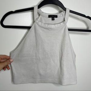 🎁4/20$🎁 off white halter crop top